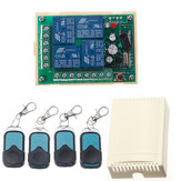 HCS301 433MHz Rolling Code Controle Remoto Switch Módulo Receptor de Relé de Fonte de Alimentação Sem Fio