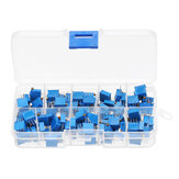 100Pcs 3296W Multiturn Trimmer Potentiometer Kit High Precision Variable Resistor With Box Kit