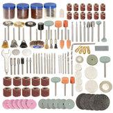 166pcs 1/8 Inch Shank Rotary Tool Accessories Set Polshing Tool Grinding Brush Polishing Wheel