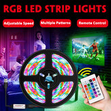 1M/2M/3M/4M/5M 2835 SMD USB RGB Waterproof LED Strip Light Outdoor Home Lamp 5V + 24Keys Remote Control