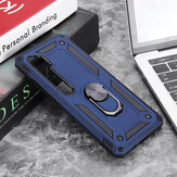 Bakeey for Xiaomi Mi Note 10 Lite Case Armor Magnetic Shockproof with Finger Ring Holder Stand PC Protective Case Non-original