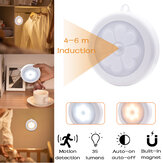 Round Motion Sensor Night Light Infrared Detector Cabinet Stair Lamp