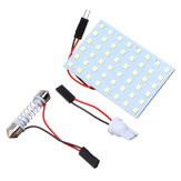 48-SMD 1210 LED Dome Lights Panel T10 BA9S Festoon Car Interior Reading Lamp 4.8W White