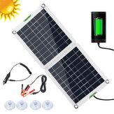 60W elastyczny panel słoneczny składany zestaw do ładowania baterii zestaw domowy 5V USB do telefonu 12 V do samochodu łódź RV Outdoor Hiking Camping Travel