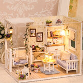 Cuteroom 3013 Cat Diary Doll House DIY Cabin With Dust Cover Music Motor