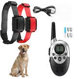 1000M Distancia recargable eléctrico Perro Collar de entrenamiento Impermeable Tapón de corteza con controlador Control remoto eléctrico para 6 ~ 60KG Perro