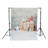 3x5ft 5x7ft Salju Kayu Dinding Hadiah Natal Fotografi Latar Belakang Studio Prop Latar Belakang