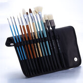 Bolingkai 14Pcs Oil Painting Pen Set Multifunction Painting Brush Set Drawing Sketching Oil Painting Examing Pen Set For Professional Artist Beginners