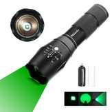 AloneFire E17 300Lumens Zoomable Long Range Green Light Flashlight Green Hunting Light Tactical Flashlight