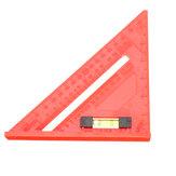 Effetool 7 Inch Regla cuadrada de viga plástica Regla de triángulo de 45 grados para la carpintería