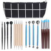 18pcs Clay Sculpting Carving Pottery Tools Kit Wax Polymer Shapers Modeling DIY Craft