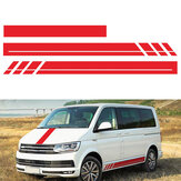 3PCS Side Body Stripes Hood Stickers Decals For VW Transporter T4 T5 T6 Campervan