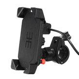 ユニバーサルオートバイの自転車のハンドルバーマウントホルダーUSB充電器3.5  -  6インチの携帯電話GPS