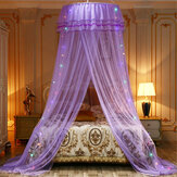 LED Star String Light Indoor Dome Lace Mosquito Net Home Bedding Princess Style Bedroom Use