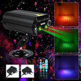 100W RGB Party Lights DJ Disco Strobe Lamp LED Laser Projector Sound Control