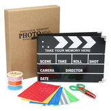 Clapboard Schowka DIY Stern Scrapbooking DIY Photo Album Card Craft papieru ze schowkiem