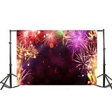 3x5FT Vinyl Happy New Year Fireworks Studio Background Photography Backdrop Prop