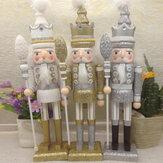 42 cm houten notenkraker pop soldaat vintage handwerk decoratie kerst action figure geschenken