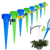 Automatic Sprayer Drip Irrigation Plant Waterer Self Watering Devices with Slow Release Control Valve Switch Automatic Vacation Self Plant Watering Spikes Glob