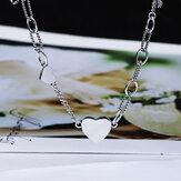 SHENLIN S925 Silber Halskette Weibliche Flut Einfache Cold Style Temperament Schlüsselbein Kette Mädchen Wilde Halskette