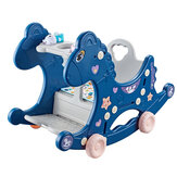 4 in 1 Baby Multifunctional Rocking Horse Toy Rider Rocking Horse Seat Purpose Kids Ride for 1-6 Years Old Baby Toys