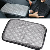 Grey PU Leather Car Armrest Cover Auto Center Console Box Cushion Pad Universal 30X20cm