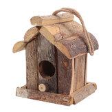 Ninho de pássaros de madeira vintage Caixa Decoração de jardim doméstico em pequenos pássaros selvagens