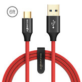 BlitzWolf® AmpCore Turbo BW-TC10 3A 6ft/1.8m USB Type-C Fast Charging Cable USB 3.0 5Gbps Data Transmission Cord For Huawei P30 P40 Pro Xiaomi Mi10 Redmi Note 9S