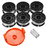 6pcs 30ft Trimmer Line Remplacement Spool Cap Cover Spring For Black and Decker String Trimmers