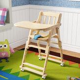 6 meses de crianças que jantam a cadeira do bebê da cadeira com 4 rodas 4 ajuste de altura da engrenagem
