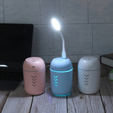 3 In1 Mini Air Humidifier Steam Aroma w/ USB Fan LED Light Purifier Diffuser