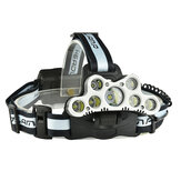 XANES 2501-A 7LED 2200 Lumens Bicycling Headlamp 6 Switch Modes With SOS Help Whistle Bike Light