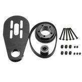DIY Parts Kit Pulley e montagem de motor para 72 / 70MM Wheels Scooter elétrico
