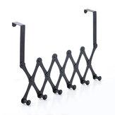 TENIGE Coat Rack 4/5/6 Hooks Scalable Stainless Steel Door Behind Hook Hat Storage
