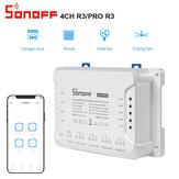 SONOFF 4CH R3 & 4CH PRO R3 AC100-240V 50 / 60Hz 10A 2200W 4-Gang-WLAN-Smart-Schalter Smart Inching / Self-Locking / Interlock 3 Arbeitsmodus APP-Fernbedienungsschalter Funktioniert mit Alexa und Google Home