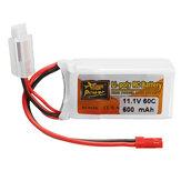ZOP Power 11.1V 600mAh 60C 3S Lipo Batterie JST Stecker
