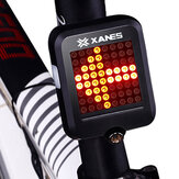 XANES 64 LED 80LM Intelligent automatisch inductiestaal Ring Brake Safety Bike achterlicht met infraroodlaser