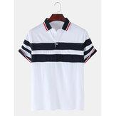 Herre patchwork farve splejs Casual kortærmet golf shirt