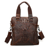 Men Genuine Leather Alligator Business Bag Handbag