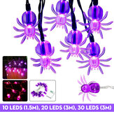 1.5M / 3M Halloween LED Luz de fada de aranha festa noite lâmpada pendurada decoração de casa