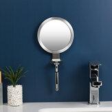 Противотуманное зеркало для ванной комнаты, мощная присоска, зеркала для душа, зеркало для бритья, с держателем для бритвы