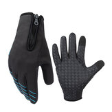 CoolChange Full Finger Cycling Thermal Windproof Gloves Touch Screen Anti-slip Riding Bike Gloves