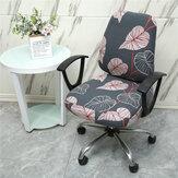 2 unidades / conjunto Capa elástica para cadeira de escritório Protetor de cadeira giratória para computador com capa extensível Slipcover para casa decoração de móveis de escritório