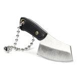 Mini cuchillo para picar de 5.8cm Colgante Kit de cocina Llavero Decoración con vaina