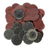 40pcs 2 Inch 24 60 80 120 Grit Roll Lock Sanding Discs