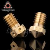 Bico de latão Trianglelab® / Dforce® T-V6 Bico V6 para impressoras 3D hotend M6 Rosca para bicos E3D extrusora hotend titan