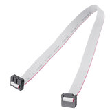 2.54mm FC-10P IDC Flat Gray Cable LED Screen Connected to JTAG Download Cable