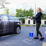 21V Cordless Portable High-pressure Car Washer 10000mAh Li-ion Battery 5m/16.4ft