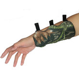 1Pcs Camouflage Archery Arm Guards Bow Protective Arm Sleeve With 3 Adjustable Elastic straps For Hunting Shooting