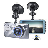 4 Inch 1080P Car DVR Dash Cam Video Recorder Front + Rear Camera Dual Lens LCD